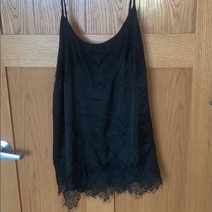 Maurice's Size 1 Black Lace Tank NEVER WORN